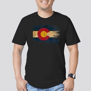 Colorado Flag Men's Fitted T-Shirt (dark)