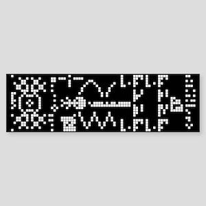 Alien Binary Crop Circle Code UFO Bumper Sticker