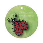 Ladybug Personalized Ornament Add name & date