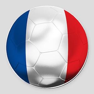 France Football Round Car Magnet