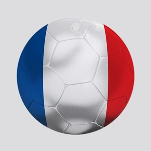 France Football Ornament (Round)