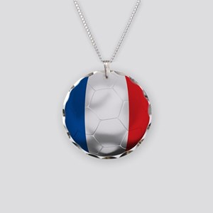 France Football Necklace Circle Charm
