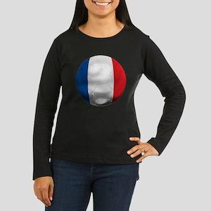 France Football Women's Long Sleeve Dark T-Shirt