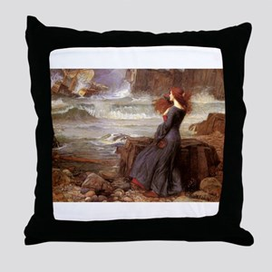 Miranda The Tempest Throw Pillow