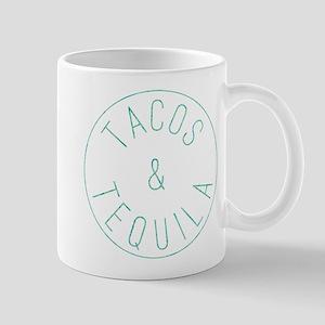 Tacos and Tequila Circle Print 11 oz Ceramic Mug