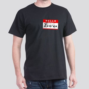 Ionian, Name Tag Sticker Dark T-Shirt