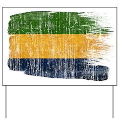 Gabon Flag Yard Sign