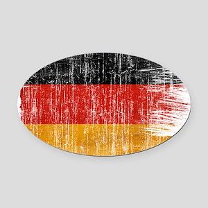 Germany Flag Oval Car Magnet