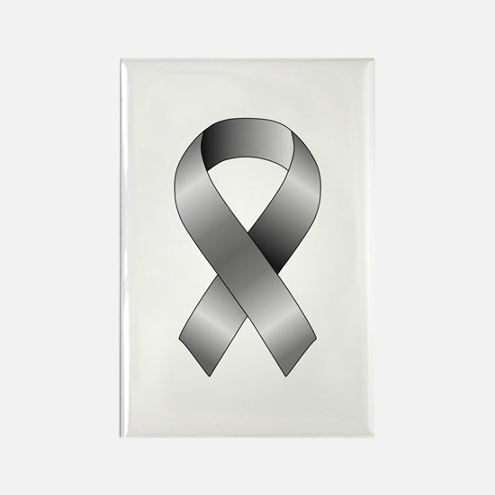 Grey Ribbon Rectangle Magnet