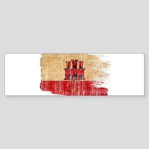 Gibraltar Flag Sticker (Bumper)
