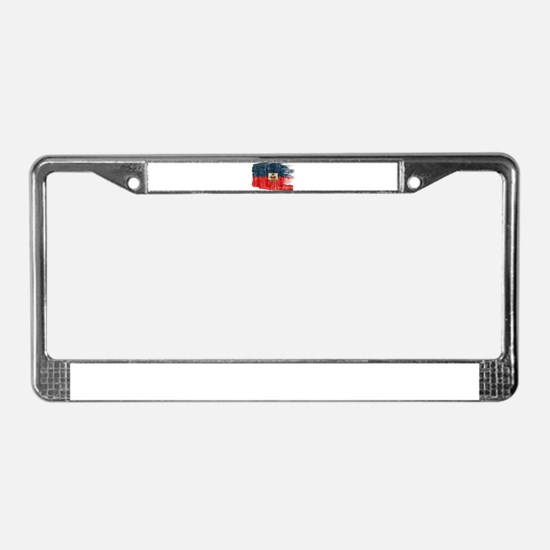 Haiti Flag License Plate Frame