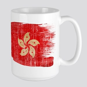 Hong Kongtex3-paint style aged copy Large Mug