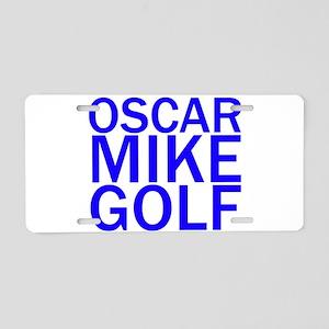 OMG-Blue Aluminum License Plate