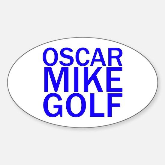 OMG-Blue Sticker (Oval)