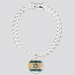 Israel Flag Charm Bracelet, One Charm