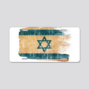 Israel Flag Aluminum License Plate
