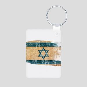 Israel Flag Aluminum Photo Keychain