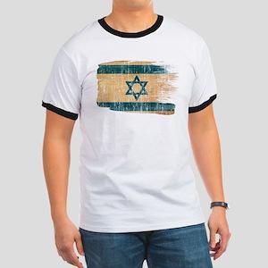 Israel Flag Ringer T