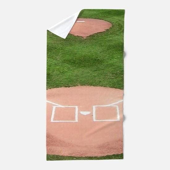 Baseball Diamond Beach Towel