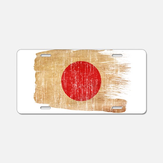 Japan Flag Aluminum License Plate