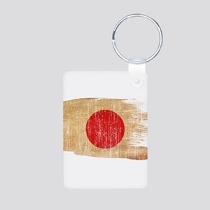 Japan Flag Aluminum Photo Keychain