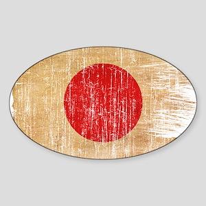 Japan Flag Sticker (Oval)