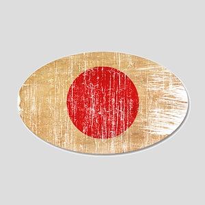 Japan Flag 22x14 Oval Wall Peel