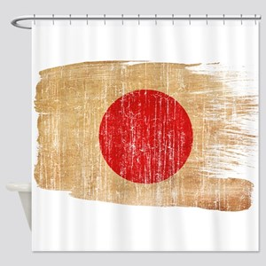 Japan Flag Shower Curtain