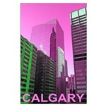Calgary in Pink Poster