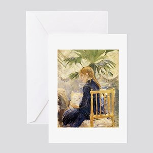 Girl & Dog, Morisot Greeting Card