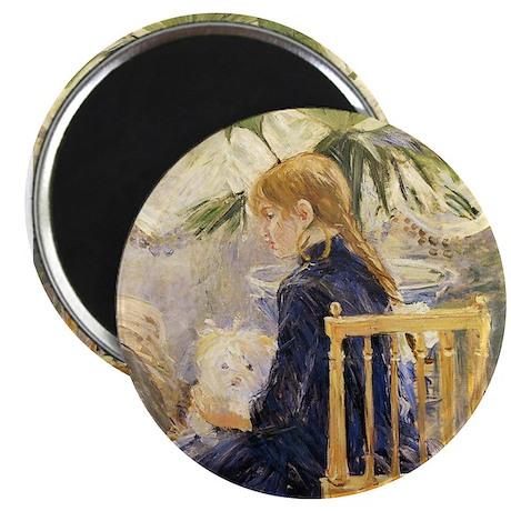 Girl & Dog, Morisot Magnet