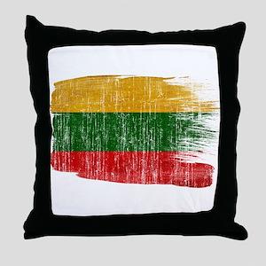 Lithuania Flag Throw Pillow