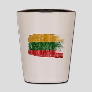 Lithuania Flag Shot Glass