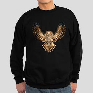 Beadwork Great Horned Owl Sweatshirt (dark)