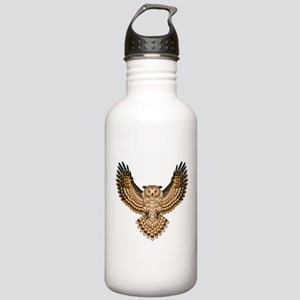 Beadwork Great Horned Owl Stainless Water Bottle 1