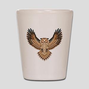 Beadwork Great Horned Owl Shot Glass