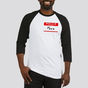 Taco, Name Tag Sticker Baseball Jersey