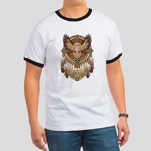 Native American Owl Mandala 1 Ringer T