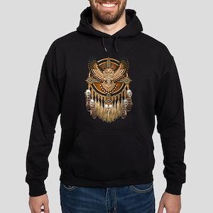 Native American Owl Mandala 1 Hoodie (dark)