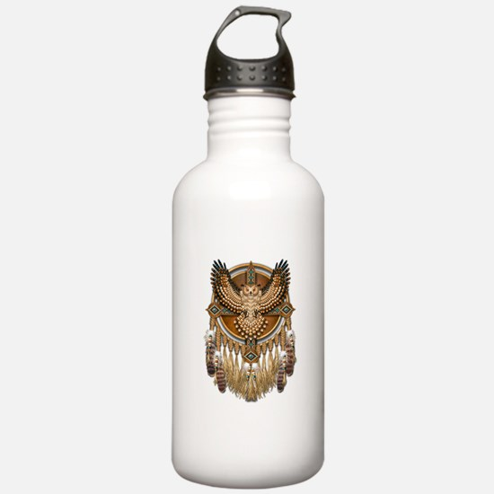 Native American Owl Mandala 1 Water Bottle