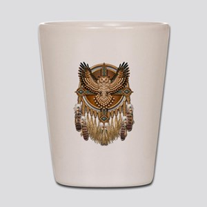Native American Owl Mandala 1 Shot Glass