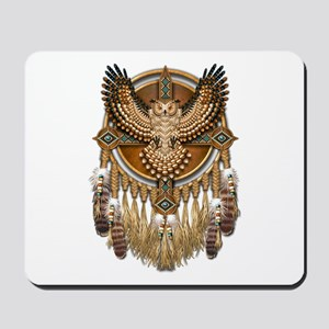 Native American Owl Mandala 1 Mousepad