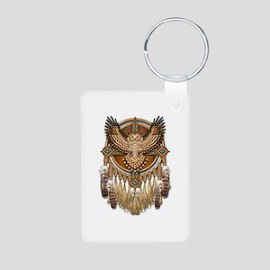 Native American Owl Mandala 1 Aluminum Photo Keych
