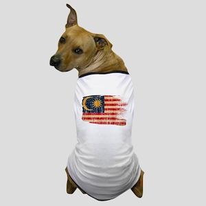 Malaysia Flag Dog T-Shirt