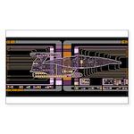Nebula class MSD Sticker (Rectangle)