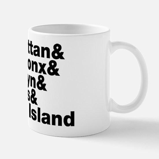 Five Boroughs New York City Mug