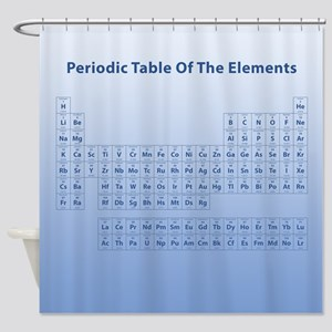 Blue Periodic Table Shower Curtain