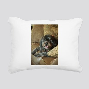 indoor dogs floppy ears Rectangular Canvas Pillow