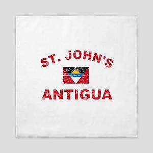 St. John;s Antigua designs Queen Duvet