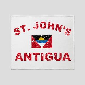St. John;s Antigua designs Throw Blanket